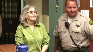 Susan Mellen is seen during a court hearing. (Credit: Pool)