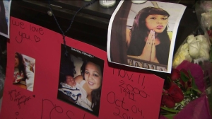 A memorial was held on Oct. 4, 2014, at Laguna Hills High School, where two of the five teens killed in a fiery crash over the weekend had attended. (Credit: KTLA)