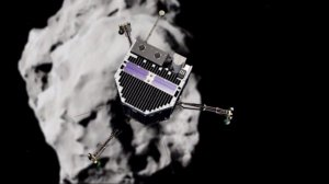 History could be made on Nov. 12, 2014, if a spacecraft lands on a comet. (Credit: European Space Agency)
