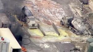 More than three dozen people were injured in an explosion at Santa Clara Waste Water Co. on Nov. 18, 2014. (Credit: KTLA)