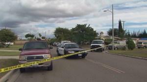 A Garden Grove home-invasion led to the death of the alleged intruder on Nov. 1, 2014. (Credit: KTLA)