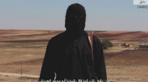 A masked man was seen in the latest video released by ISIS on Nov. 16, 2014.