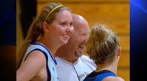 Lauren Hill, left, is dying from a rare form of brain cancer called Diffuse Intrinsic Pontine Glioma. (Credit: WCPO/via CNN)