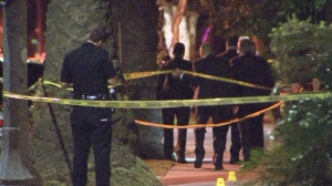 A Long Beach man was shot and killed by police after allegedly killing his neighbors dog. (Credit: KTLA)