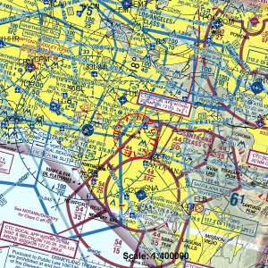 An FAA map shows the flight restrictions over Disneyland, which were put in place in 2003.