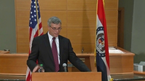 St. Louis County Prosecutor Robert P. McCulloch delivers the grand jury verdict in the death of Michael Brown in a Missouri courtroom on Nov. 24, 2014.