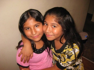 A Facebook page posted this photo of Lexi Perez Huerta and Lexandra Perez Huerta, twin sisters who were killed by a hit-and-run driver on Oct. 31, 2014. The post did not indicate which twin was which.