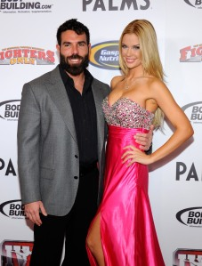 Poker player Dan Bilzerian is shown with Playboy Playmate Jessa Hinton at the Fighters Only World Mixed Martial Arts Awards on Nov. 30, 2011, in Las Vegas. (Credit: Ethan Miller/Getty Images)