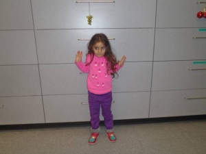 The LAPD provided this photo of Audrey, 3. A search was underway for her parents or guardians after she was abandoned at the Grove on Dec. 20, 2014.