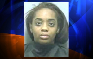 Rockell Coleman was arrested and charged in the deaths of her two young boys, who were killed in a house fire in Georgie, according to Atlanta TV station WSB. (Photo credit: WSB-TV)