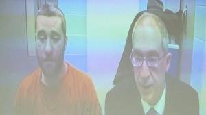 Dustin Diamond appears alongside an attorney in Ozaukee County court Dec. 26, 2014. (Credit: WITI)