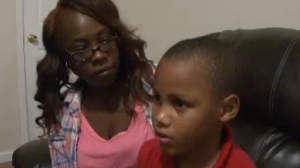 Lakaisha Reid said her son Patrick was placed in handcuffs at school. (Credit: WXIA via CNN)