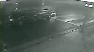 Surveillance video captured a hit-and-run driver running over a 10-year-old boy in Lincoln Heights on Dec. 2, 2014. (Credit: Los Angeles Police Department)