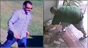 Police release video of two men sought in a rash of thefts from the porches of homes in Huntington Beach.