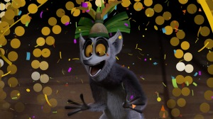 """King Julien, the animated lemur from the Netflix series """"All Hail King Julien,"""" is seen in the company's on-demand New Year's Eve countdown. (Credit: Netflix)"""