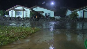 A powerful storm hit Southern California on Dec. 12, 2014, triggering a mudslide in Camarillo Springs. (Credit: KTLA)
