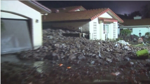 A mudslide hit the Camarillo Springs area as a major storm ripped through Southern California on Dec. 12, 2014. (Credit: KTLA)