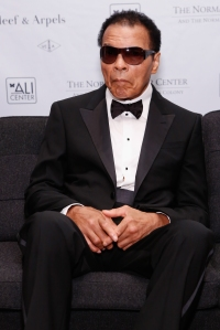 Former boxing champion Muhammad Ali is seen at the Norman Mailer Center's 4th Annual Benefit Gala on Oct. 4, 2012, in New York City. (Credit: Cindy Ord/Getty Images for Norman Mailer Center)