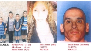 The entire Perez family was reported missing on Dec. 10, 2014 after they hadn't been since or heard from in five days. (Credit: Montebello Police Department)