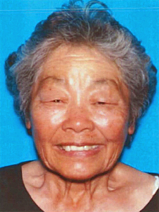 Saeko Matsumura, 87, is seen in a photo provided by the DMV.