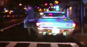Dashcam video captured a shootout between a parolee and police on Nov. 22, 2014. (Credit: Tuolumne County Sheriff's Office via CNN)