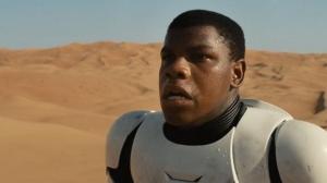 "Actor John Boyega is seen in a teaser trailer for the upcoming movie ""Star Wars: The Force Awakens."" (Credit: Walt Disney Studios Motion Pictures)"