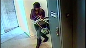 Surveillance video captured images of two women sought for burglarizing the offices of actor Paul Walker's manager on anniversary of his death.