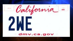 dmv licence plate partial