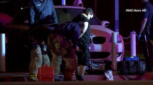 Two men were detained after allegedly leading police on a pursuit through the Glendale area on Jan. 13, 2015. (Credit: RMG News HD)