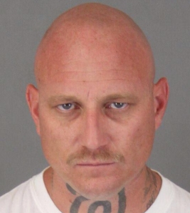 Riverside County Sheriff's Department officials provided this photo of Todd Allen Hodge, a 36-year-old Hemet man who allegedly shot and killed a police K-9 on Jan. 21, 2015.