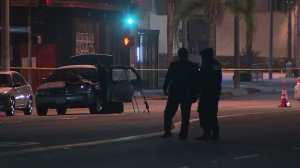 One person died after a shooting at an Inglewood nightclub on Jan. 10, 2015. (Credit: KTLA)