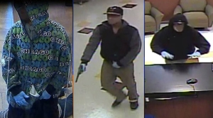 Authorities released surveillance photos of bank robbers who struck twice in the South Bay in December. (Credit: FBI)