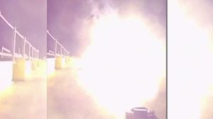 New video shows the crash landing of a portion of a SpaceX rocket.