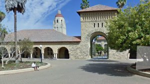 Stanford University is seen in this Google Street View.