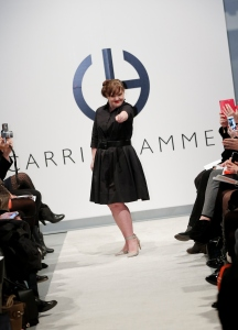 Actress Jamie Brewer walks the runway during the Role Models Not Runway Models - Carrie Hammer Runway - Mercedes-Benz Fashion Week Fall 2015 at Lightbox on Feb. 12, 2015, in New York City. (Credit: Brian Ach/Getty Images)