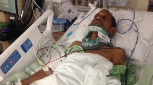 Sureshbhai Patel, 57, required spinal fusion surgery to repair damage to his back when his family says Alabama police twisted his arm and forced him to the ground. (Credit: Patel Family via CNN)