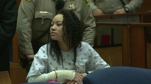 Olivia Culbreath appeared at an arraignment hearing in a downtown Los Angeles courtroom on Feb. 25, 2015. (Credit: KTLA)