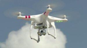 A drone is seen in a file photo. (Credit: KTLA)