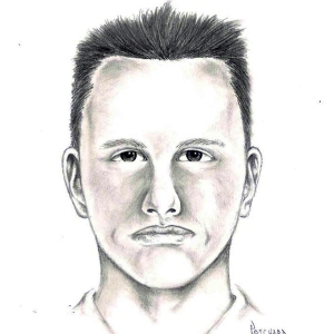 Las Vegas, Nevada, police are searching for the person depicted in this sketch. He is wanted in connection with a fatal shooting of a Las Vegas mother following an alleged road rage incident. (Credit: Las Vegas Metropolitan Police)