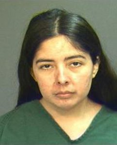 Lucero Carrera is seen in a booking photo provided by the Santa Ana Police Department.