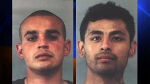 Cristian Velasquez, left, and Manuel Barbarin, right, are suspected of killing 14-year-old Lareanz Simmons in February 2012. Their booking photos were released by Riverside police on Feb. 5, 2015.