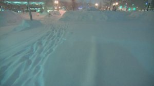 A winter storm dumped more snow in Boston on Feb. 15, 2015, prompting warnings about travel in the area. (Credit: CNN)