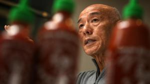 David Tran, who operates his family-owned Huy Fong Foods out of a 650,000-square-foot facility in Irwindale, doesn't see his failure to secure a trademark for his Sriracha sauce as a missed opportunity. He says it's free advertising for a company that's never had a marketing budget. (Credit: Irfan Khan / Los Angeles Times)