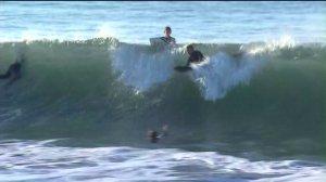 Seal Beach was hit with high surf on Saturday, Feb. 14, 2015. (Credit: KTLA)