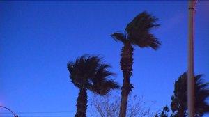 Gusty winds hit the Fontana area on Feb. 12, 2015. (Credit: KTLA)