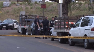 A man died after being impaled on a fence in East Hollywood on March 18, 2015. (Credit: KTLA)