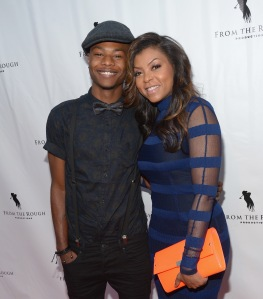 Actress Taraji P. Henson and son Marcel Henson attend the screening of 'From The Rough' at ArcLight Cinemas on April 23, 2014, in Hollywood. (Credit: Jason Kempin/Getty Images)