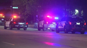 An investigation was underway after a driver was killed in Burbank following a short police pursuit on March 5, 2015, authorities said. (Credit: KTLA)