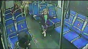 Surveillance video shows an unaccompanied 4-year-old girl on a Philadelphia bus after 3 a.m. on Friday, March 26, 2015. (Credit: Southeastern Pennsylvania Transportation Authority)