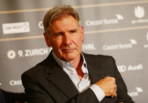 Actor Harrison Ford attends the Golden Eye For Lifetime Achievement press conference on October 4, 2013 in Zurich, Switzerland. (Credit: Vittorio Zunino Celotto/Getty Images)